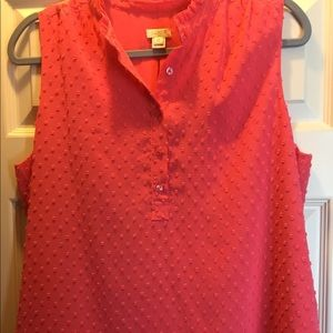 J Crew sleeveless blouse sz 12